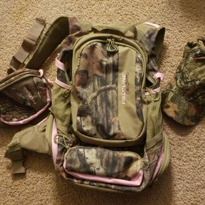 Handbags - Backpack, Fannie pack and hat